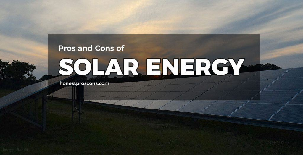 Pros Cons of Solar Energy