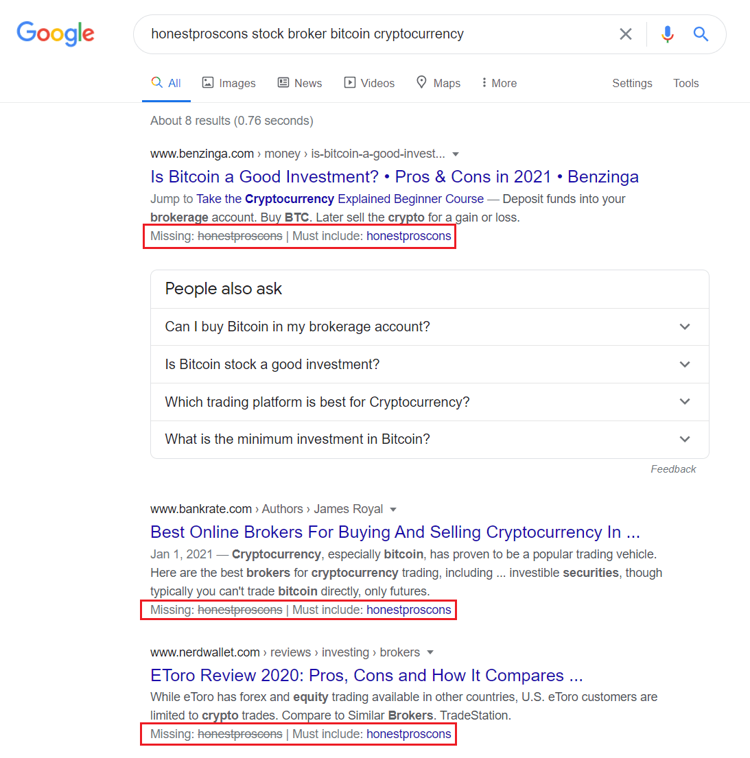 Google wrong suggestions