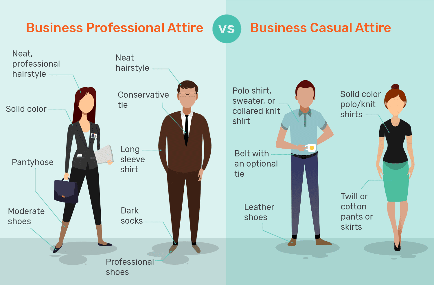 business professional vs business casual